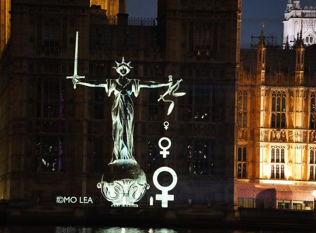 Women's injustice artwork