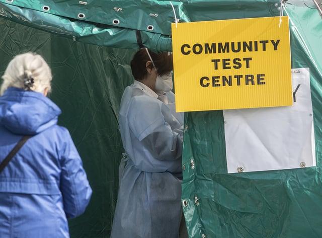 a coronavirus test centre