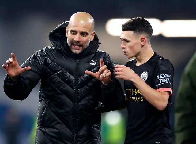 Phil Foden (right) is thriving under Pep Guardiola (left)