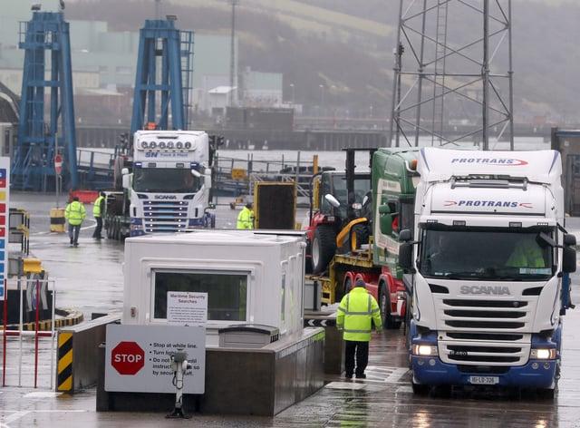 Trucks are inspected