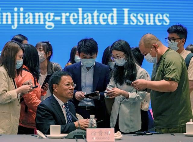 Xu Guixiang, a spokesperson for the Xinjiang north-western region
