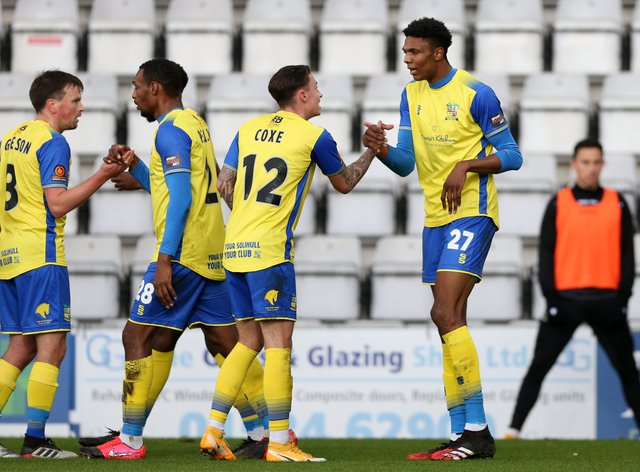 Solihull Moors were held to a 1-1 draw at King's Lynn