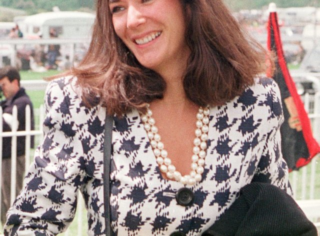 File photo of Ghislaine Maxwell at Epsom races in 2000