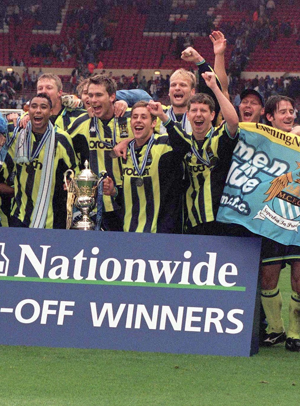 Champions League finalists Manchester City were playing in the Second Division play-off final in 1999