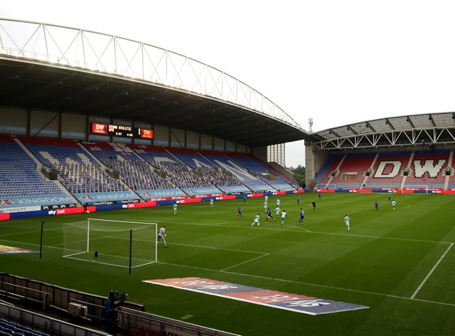 A general view of the DW Stadium