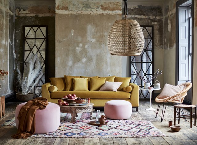 Global styles inspired this lounge setting from DFS