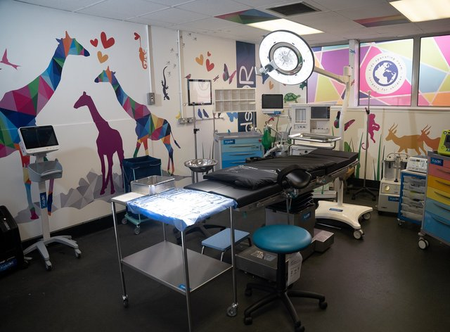 A paediatric operating room