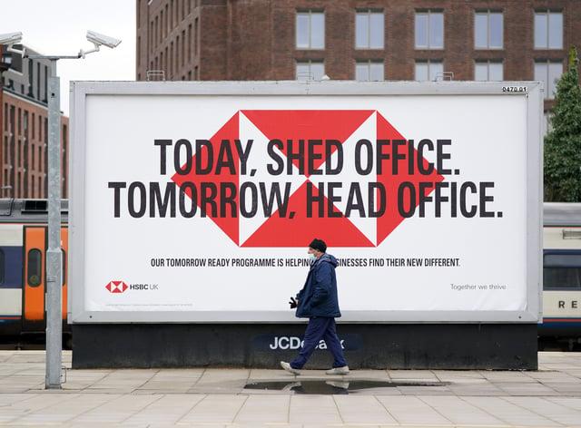 HSBC billboard