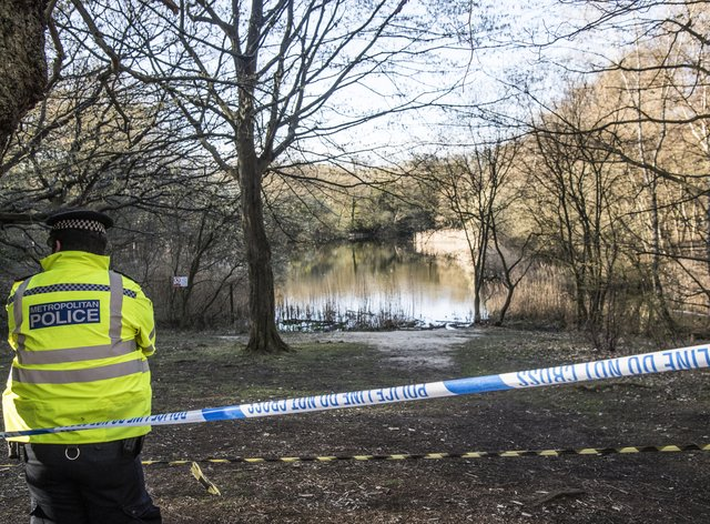 Police at the scene in Epping Forest