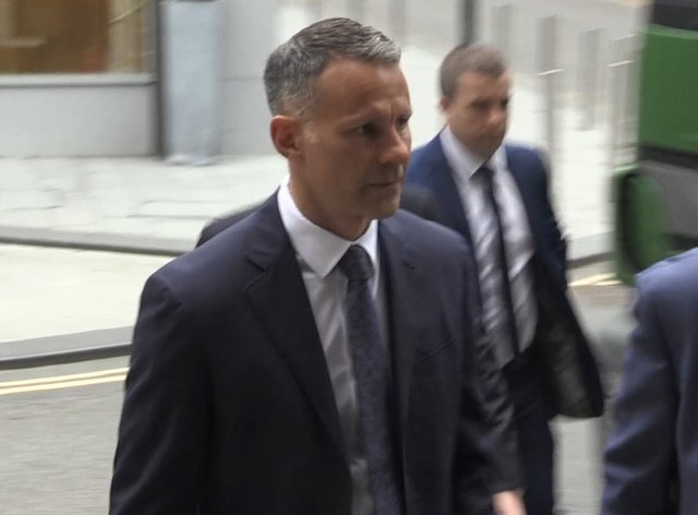 <p>Former Manchester United footballer Ryan Giggs arriving at Manchester Crown Court</p>