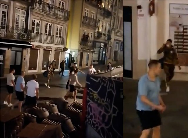 Fans clash in Porto
