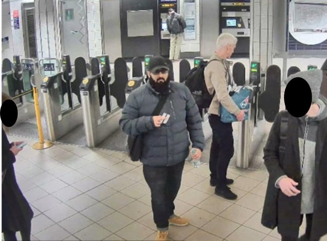 Undated Metropolitan Police handout photo, which was shown in court at the inquest into the terror attack at the Fishmongers' Hall in London on November 29 2019, of Usman Khan at Bank station to attend a prisoner rehabilitation event (Metropolitan Police/PA)