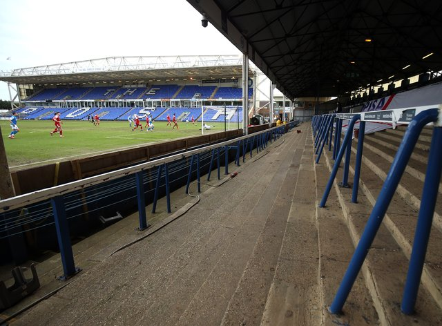 Fans will be allowed to stand on the terrace at Peterborough's Weston Homes Stadium next season