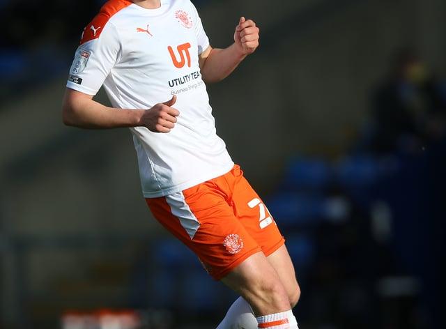 Blackpool defender Dan Ballard