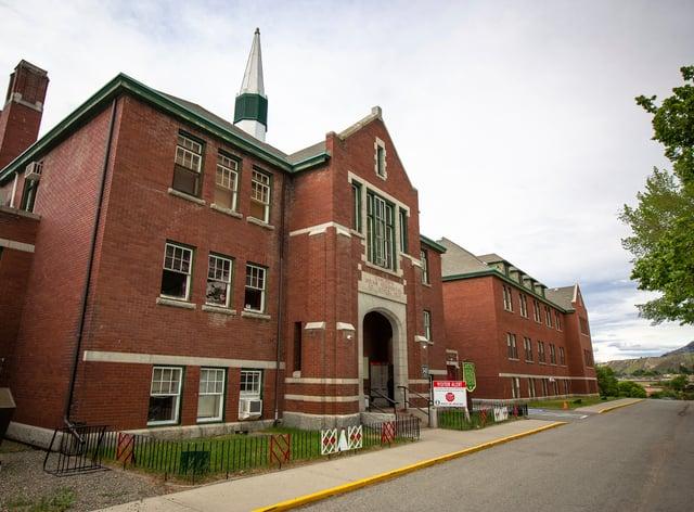 The former Kamloops Indian Residential School in British Columbia