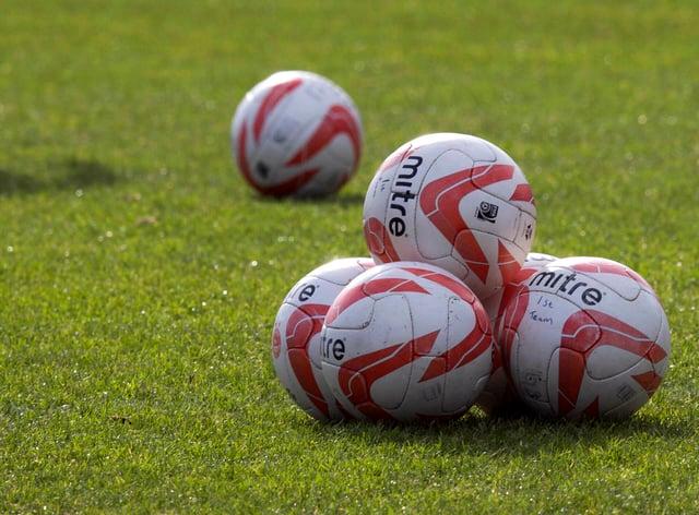A general view of footballs