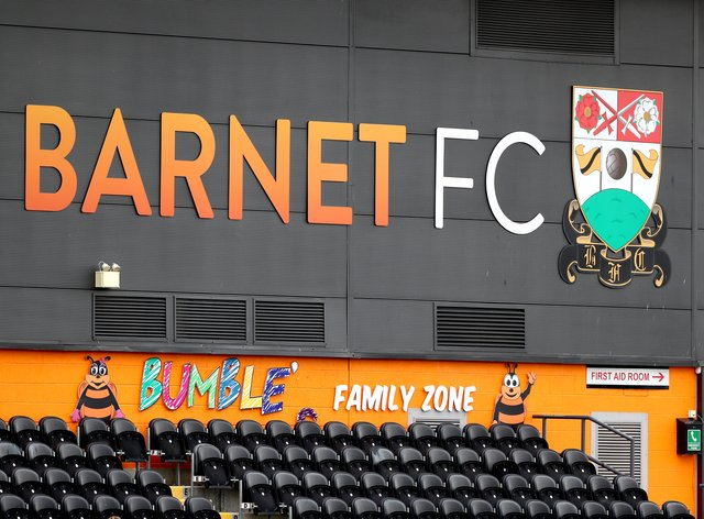 A general view of Barnet's Hive stadium
