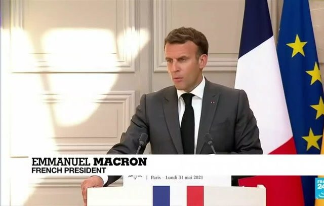 <p>French President Emmanuel Macron was attacked on a walkabout in south eastern France today</p>