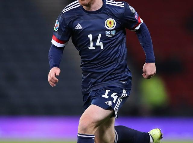 John Fleck in action for Scotland