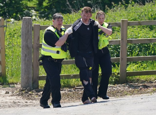A man is detained at Hallington House Farm, on the outskirts of Louth