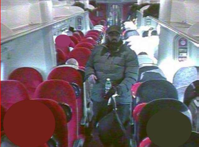 Usman Khan on board a train to London