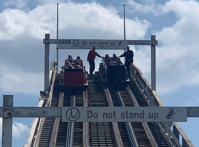 <p>Ride breaks down at Blackpool Pleasure Beach</p>