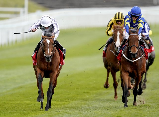Japan (left) winning the Ormonde Stakes at Chester