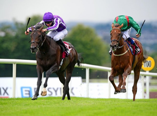 Innisfree (left) winning at the 2019 Galway Festival