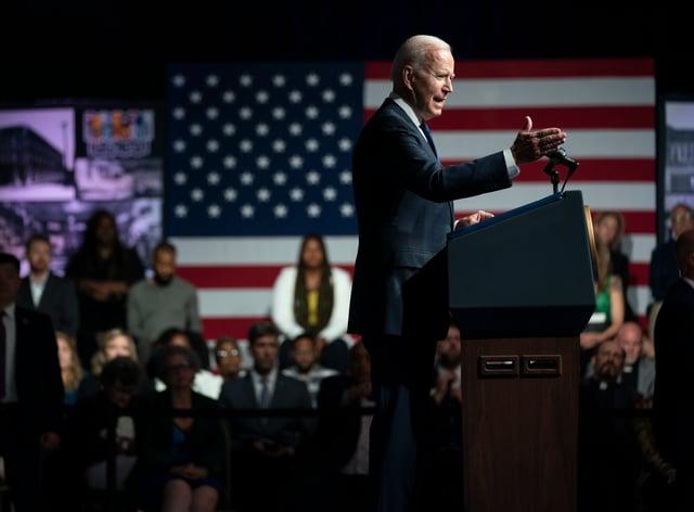US President Joe Biden in Tulsa, Oklahoma