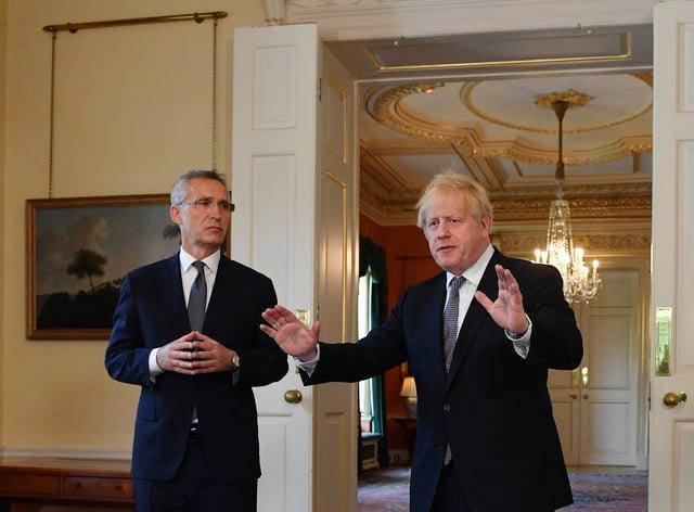 Jens Stoltenberg and Boris Johnson