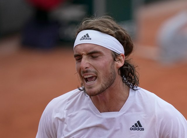 Stefanos Tsitsipas was not happy with his performance against Pedro Martinez despite a straight-sets win