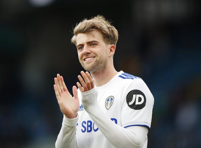 Leeds striker Patrick Bamford applauds