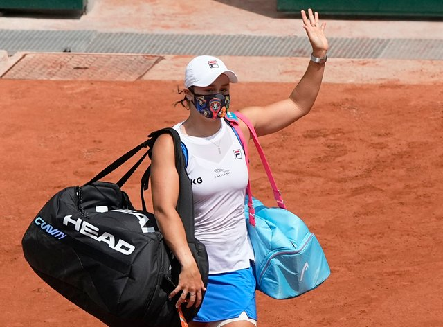 Ashleigh Barty waved a sad goodbye to the 2021 French Open