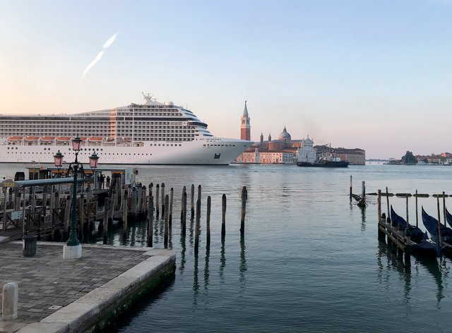 The Cruise ship MSC Orchestra in Venice
