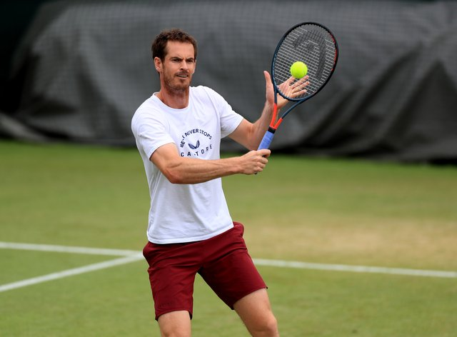 Andy Murray has been practising at Wimbledon for the past week