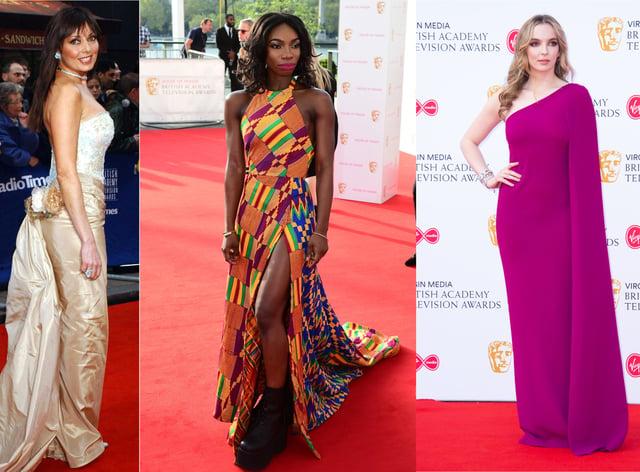 Composite of (L-R) Carol Vorderman, Michaela Coel and Jodie Comer at the BAFTA TV Awards