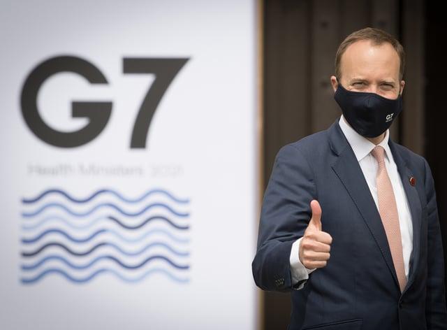 Matt Hancock prepares to welcome his G7 counterparts