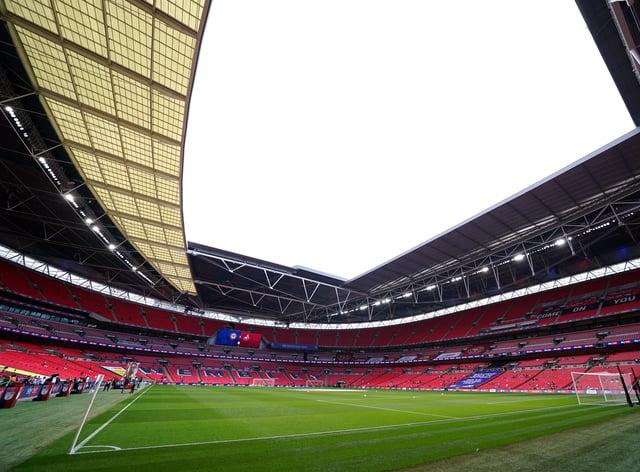 A view inside Wembley Stadium