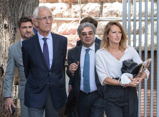 Members of Carlos Ghosn's defence team