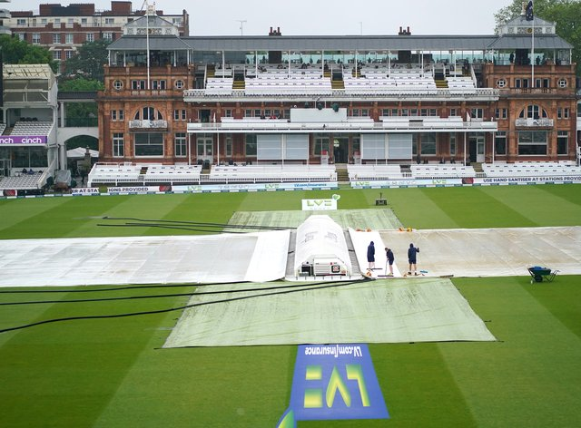 No play was possible on day three of the first Test between England and New Zealand