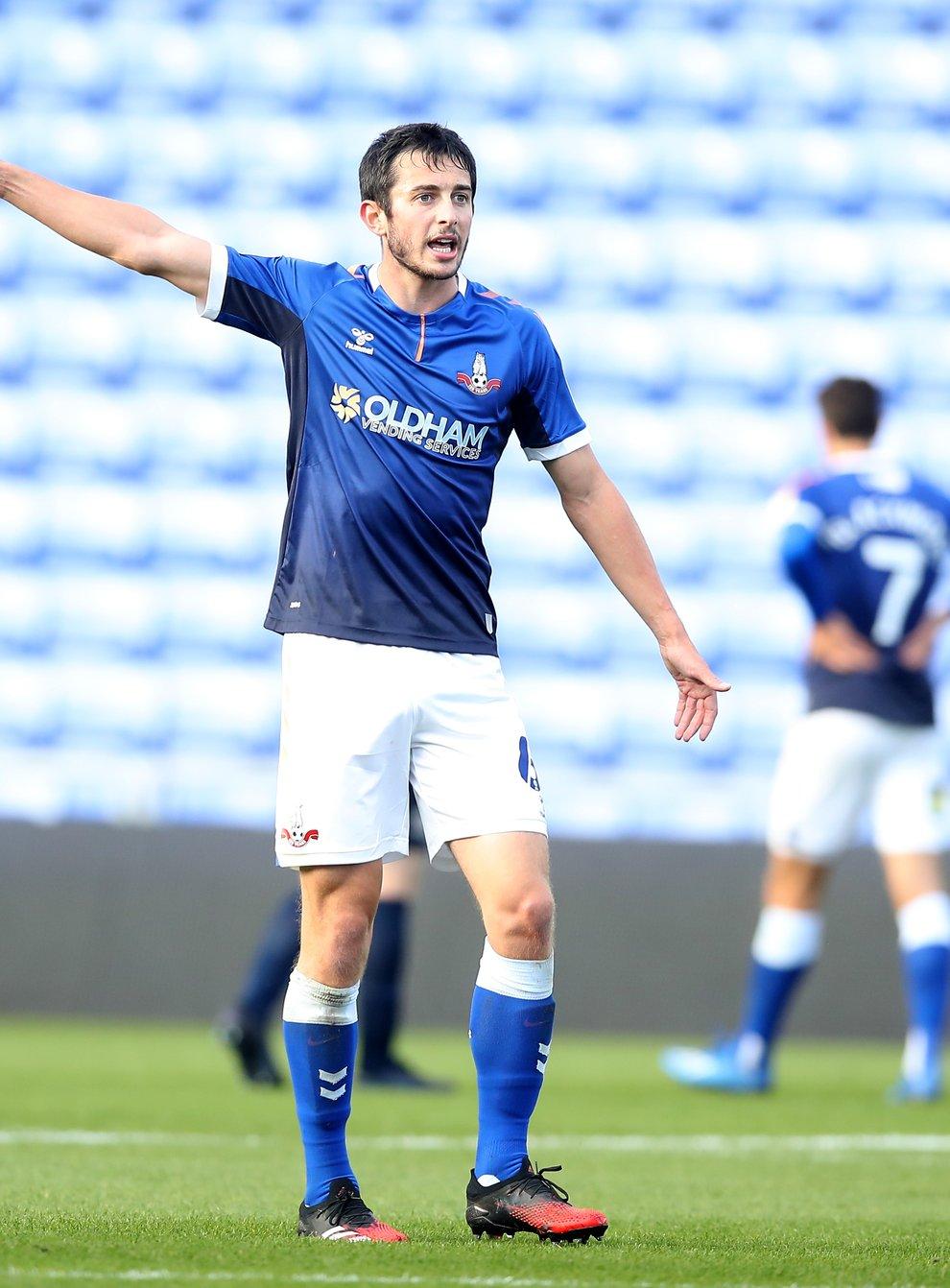 Ben Garrity in action for Oldham