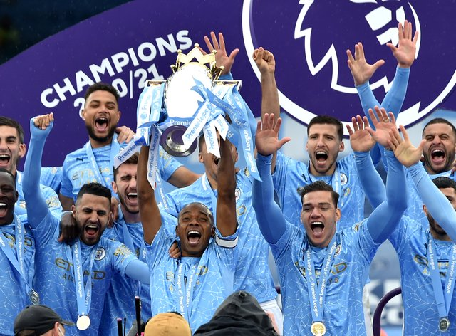 Six of Manchester City's title winners have been named in the PFA Premier League team of the year