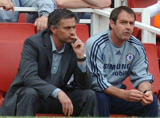 Jose Mourinho (left) and Steve Clarke on the touchline
