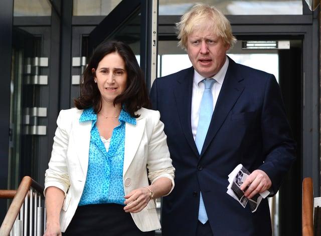 <p>Boris Johnson and Marina Wheeler</p>