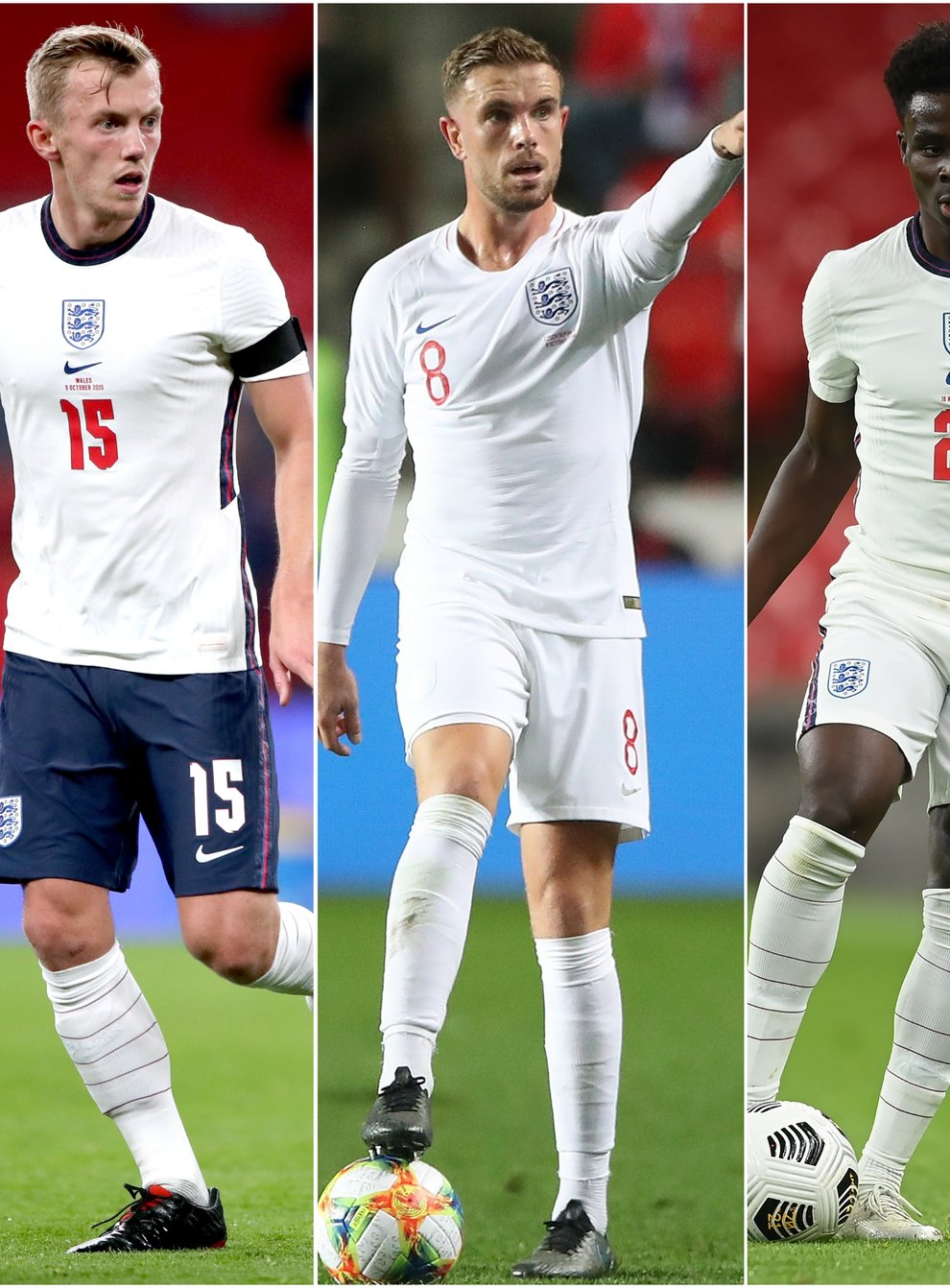 James Ward-Prowse, Jordan Henderson and Bukayo Saka will be hopin to play some part of England's friendly against Romania.