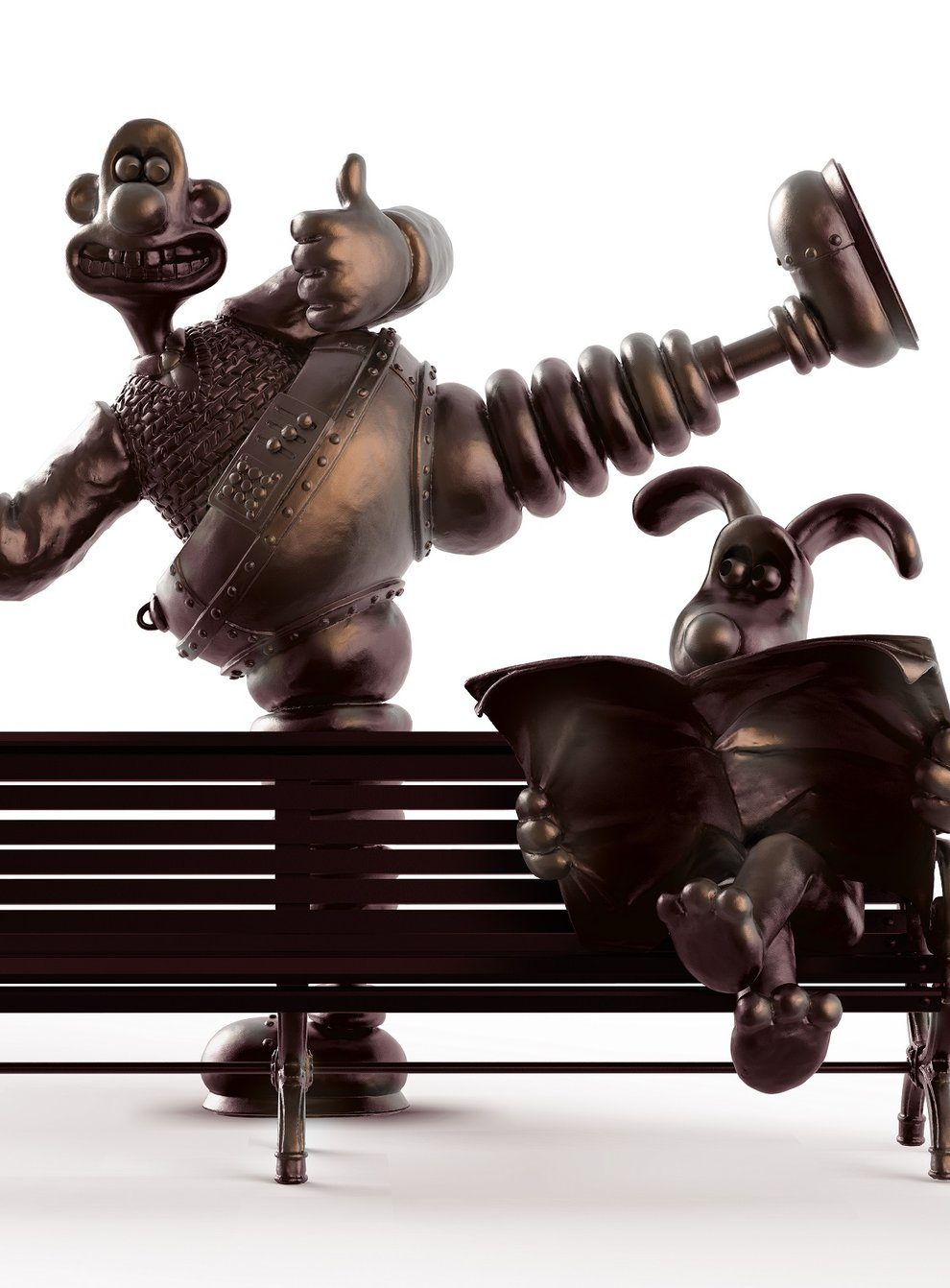 The proposed Wallace and Gromit statue which will be unveiled outside Preston Markets in the home town of Nick Park, who created the characters