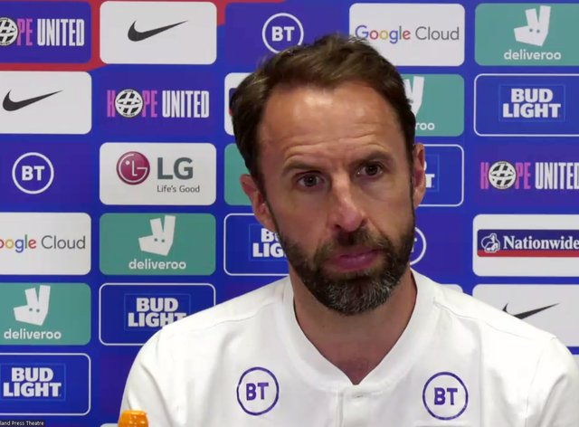 England manager Gareth Southgate speaks at a press conference