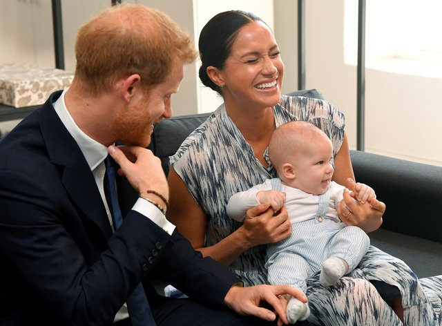<p>Harry and Meghan with Archie in South Africa</p>