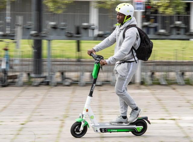 An e-scooter rider