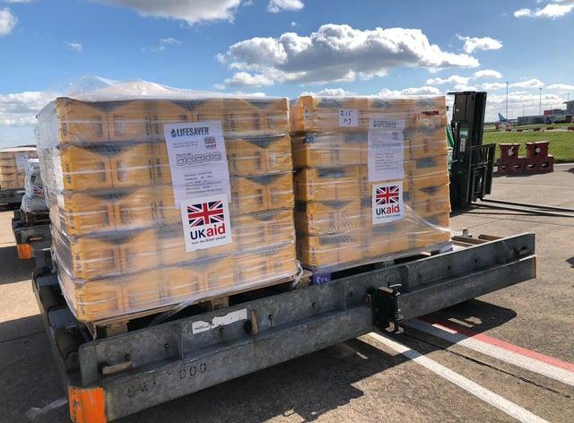 International aid shipments
